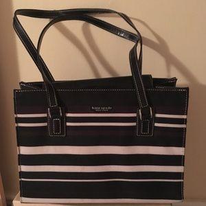 Kate Spade Black White Striped Handbag